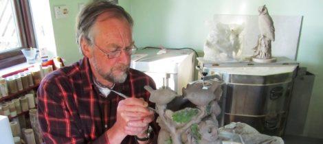 Neil Dalrymple - ceramic sculpture for Pant Memorial Hall