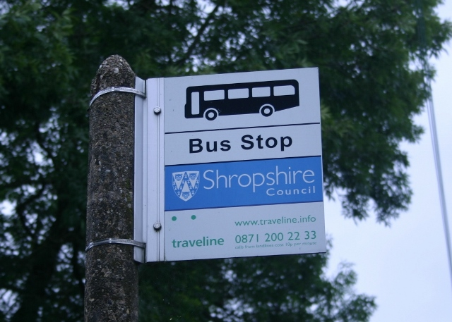 Bus stop in Pant, Shropshire