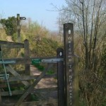 Gate on Offa's Dyke Path, Pant