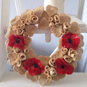 Saltdough poppies