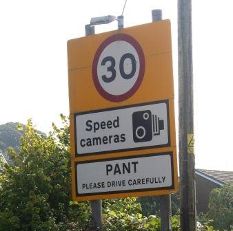Road sign in Pant Shropshire