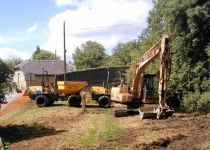 Excavators and dumpers arrive on site