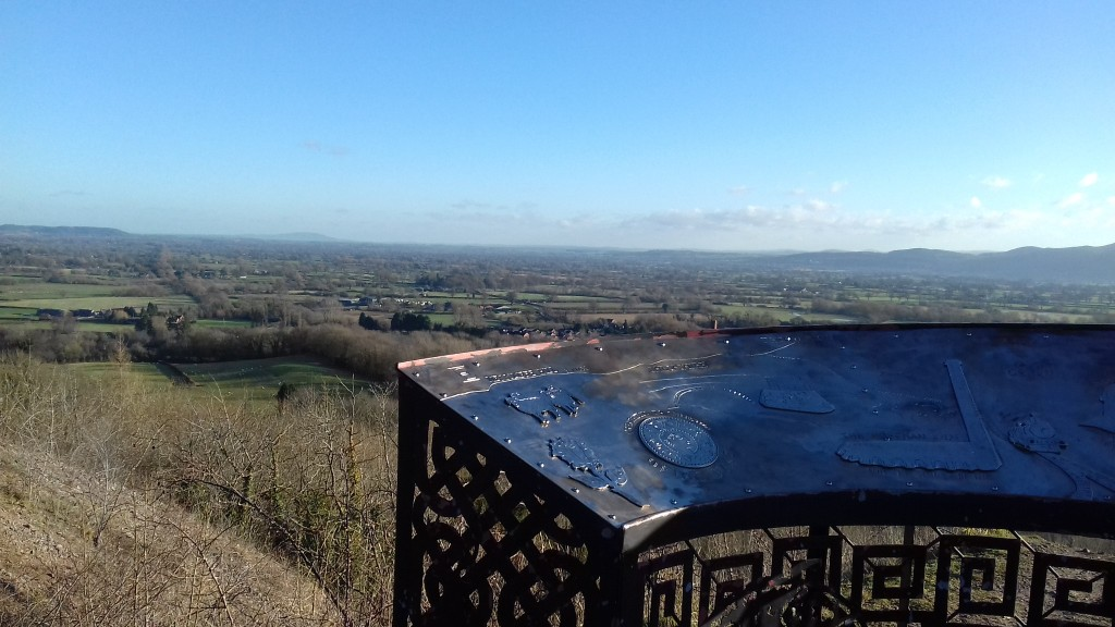 View over Shropshire from Llanymynech Rocks - Pant.Today