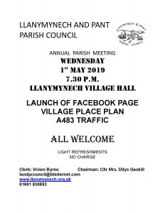 Llanymynech and Pant Parish Council AGM @ Llanymynech Village Hall