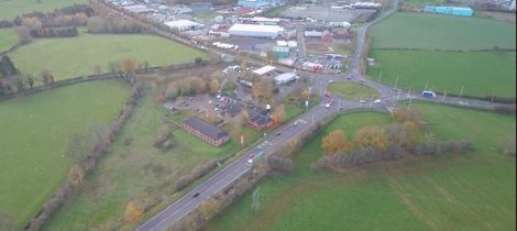 Mile End Roundabout from the air