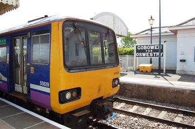 A Pacer carriage at Gobowen Station