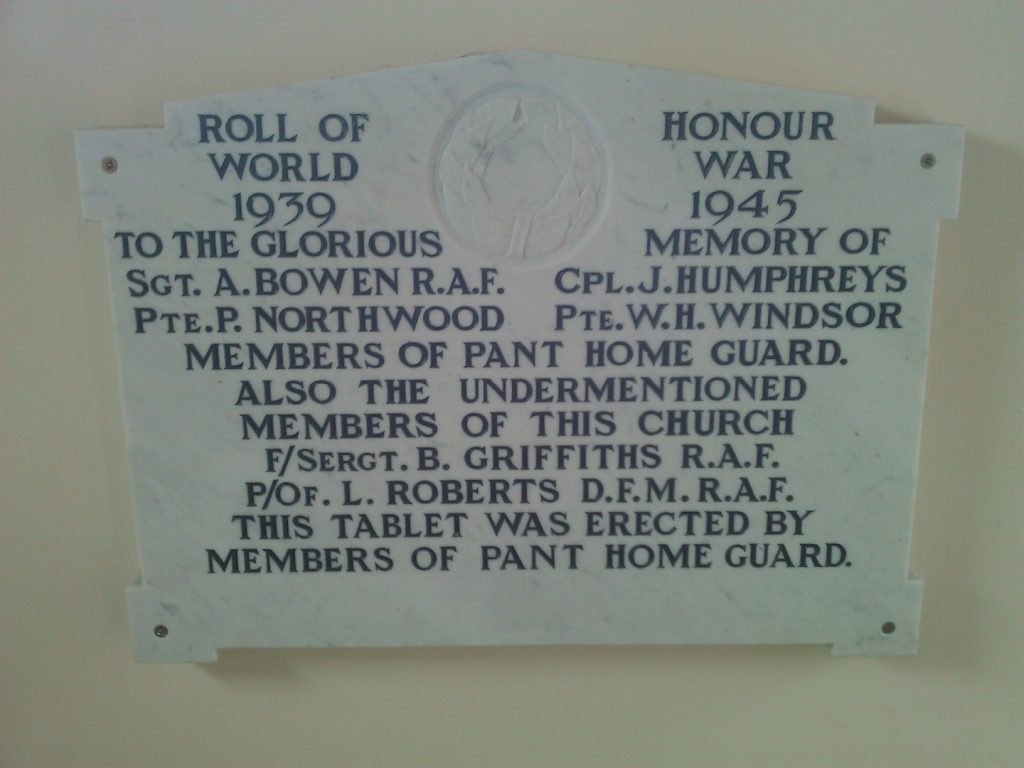 Plaque in Pant Memorial Hall